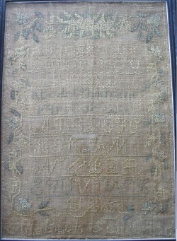 19th-century sampler by Elizabeth Sanderson