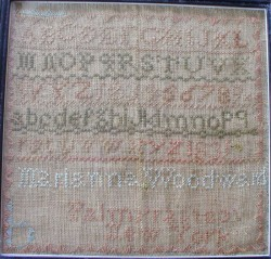 1831 sampler by Marianna Woodward