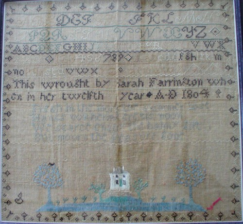 1804 sampler by Sarah Farrington