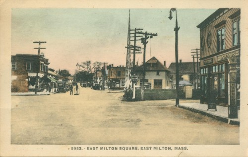 postcard of East Milton Square