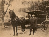 Maine Baptist Colportage Wagon with Rev. Nathan Hunt