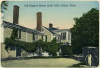 postcard of the old Ruggles House